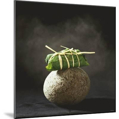 Fish Wrapped in a Leaf on a Stone-Pepe Nilsson-Mounted Photographic Print