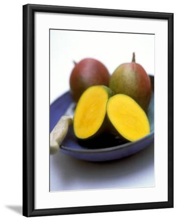 Mangos, One Cut Open-William Lingwood-Framed Photographic Print