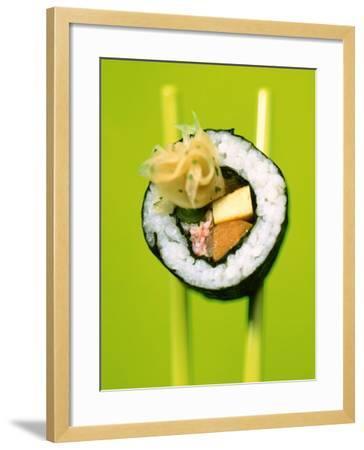 Maki-Sushi with Crabmeat, Scrambled Egg and Tuna-Hartmut Kiefer-Framed Photographic Print