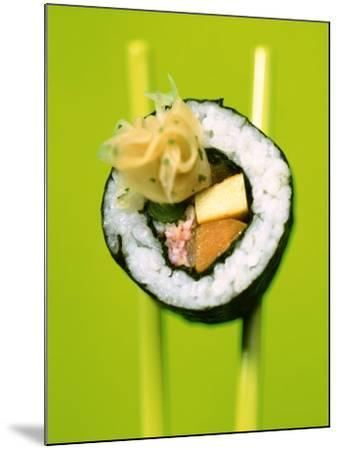 Maki-Sushi with Crabmeat, Scrambled Egg and Tuna-Hartmut Kiefer-Mounted Photographic Print