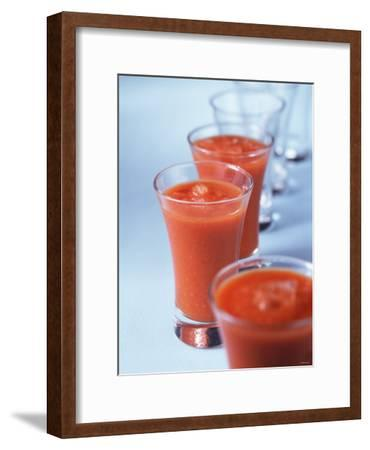 Gazpacho in Small Glasses-Ian Batchelor-Framed Photographic Print
