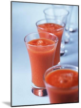 Gazpacho in Small Glasses-Ian Batchelor-Mounted Photographic Print