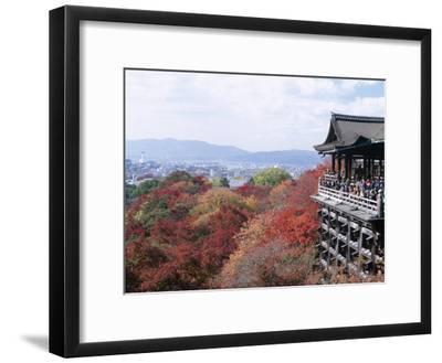 Autumn Leaves, Kiyomizu Temple (Kiyomizu-Dera), Kyoto, Honshu, Japan--Framed Photographic Print