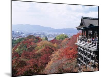 Autumn Leaves, Kiyomizu Temple (Kiyomizu-Dera), Kyoto, Honshu, Japan--Mounted Photographic Print