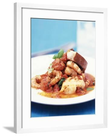 Mediterranean Fish and Seafood Stew--Framed Photographic Print