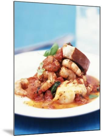 Mediterranean Fish and Seafood Stew--Mounted Photographic Print