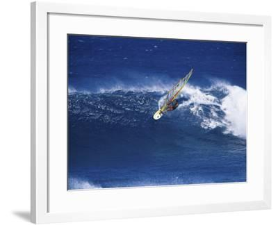Windsurfer Surfing--Framed Photographic Print
