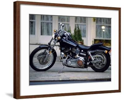 Black Motorcycle--Framed Photographic Print