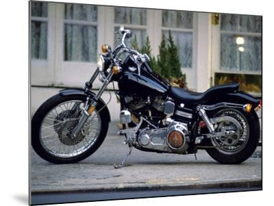 Black Motorcycle--Mounted Photographic Print