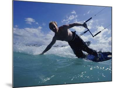 Man Kitesurfing on the Surface of Water--Mounted Photographic Print