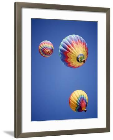 Colorful Hot Air Balloons in Sky, Albuquerque, New Mexico, USA--Framed Photographic Print