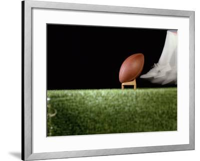 Football Player Preparing for a Kickoff--Framed Photographic Print