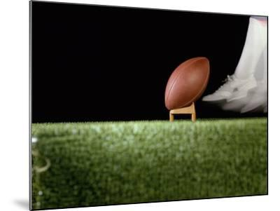 Football Player Preparing for a Kickoff--Mounted Photographic Print
