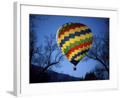Bright, Colorful Hot Air Ballooon--Framed Photographic Print