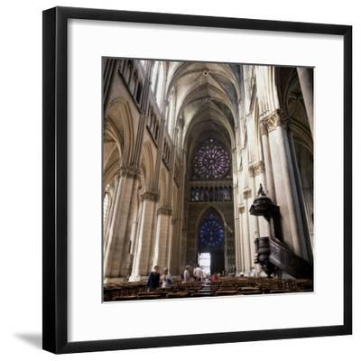 Gothic Cathedral Reims Champagne, France--Framed Photographic Print