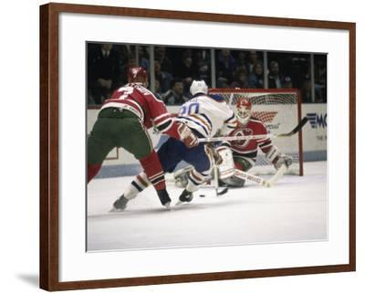 Ice Hockey East Rutherford, New Jersey, USA--Framed Photographic Print