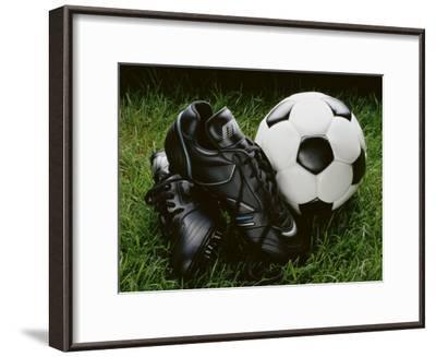 Soccer Still Life--Framed Photographic Print