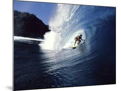 Surfer Riding a Wave--Mounted Photographic Print