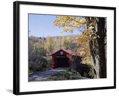 Covered Bridge in Fall--Framed Photographic Print