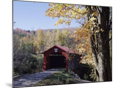 Covered Bridge in Fall--Mounted Photographic Print