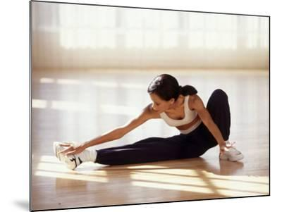 Brunette Stretching--Mounted Photographic Print