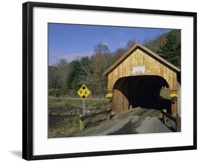 Mill Bridge, Tunbridge, Vermont, USA--Framed Photographic Print