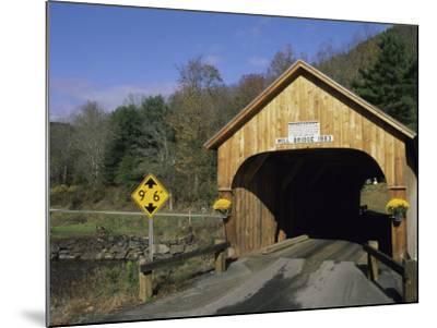 Mill Bridge, Tunbridge, Vermont, USA--Mounted Photographic Print