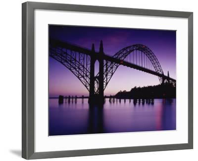 Yaquina Bay Bridge, Newport, Oregon, USA--Framed Photographic Print