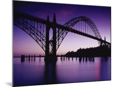 Yaquina Bay Bridge, Newport, Oregon, USA--Mounted Photographic Print