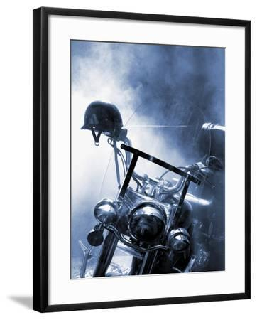 Close-up of a Motorcycle--Framed Photographic Print