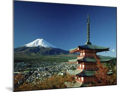 Mount Fuji Japan--Mounted Photographic Print