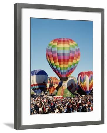 Colorful Hot Air Balloons, Albuquerque Balloon Fiesta, Albuquerque, New Mexico, USA--Framed Photographic Print