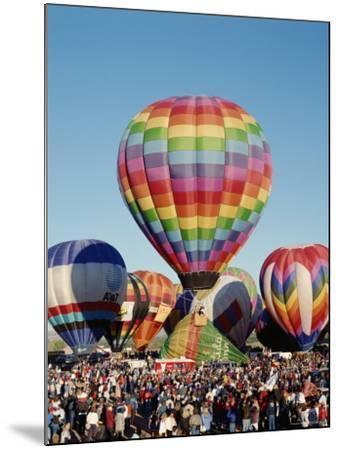 Colorful Hot Air Balloons, Albuquerque Balloon Fiesta, Albuquerque, New Mexico, USA--Mounted Photographic Print