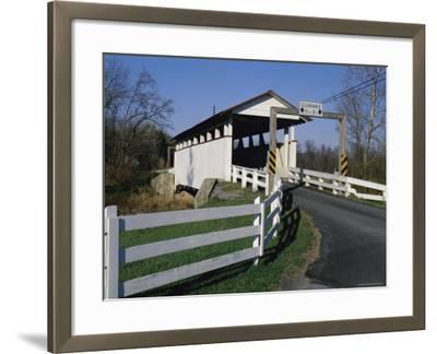 Snooks Covered Bridge, Bedford County, Pennsylvania, USA--Framed Photographic Print