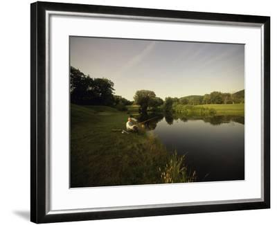 Fishing in a Peaceful Setting--Framed Photographic Print