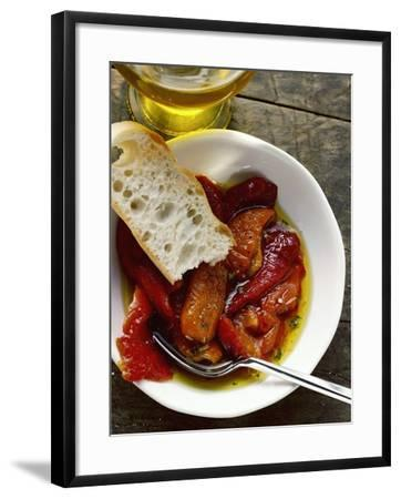 Peperonata (Red Peppers Marinated in Oil, Italy)--Framed Photographic Print