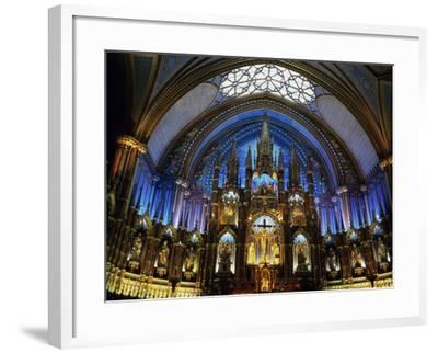 Interior of the Notre Dame Cathedral, Montreal, Quebec, Canada--Framed Photographic Print