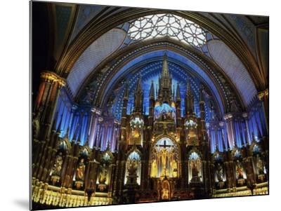 Interior of the Notre Dame Cathedral, Montreal, Quebec, Canada--Mounted Photographic Print
