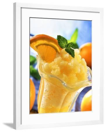 Orange Granita--Framed Photographic Print