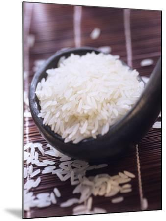 A Ladle of Uncooked Long Grain White Rice--Mounted Photographic Print