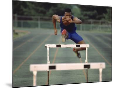 Leaping Over Hurdles--Mounted Photographic Print
