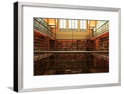 Large Old Dutch Library in the Rijksmuseum in Amsterdam-Zarya Maxim-Framed Photographic Print