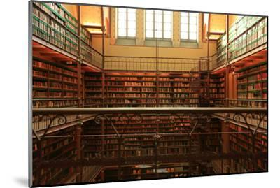Large Old Dutch Library in the Rijksmuseum in Amsterdam-Zarya Maxim-Mounted Photographic Print