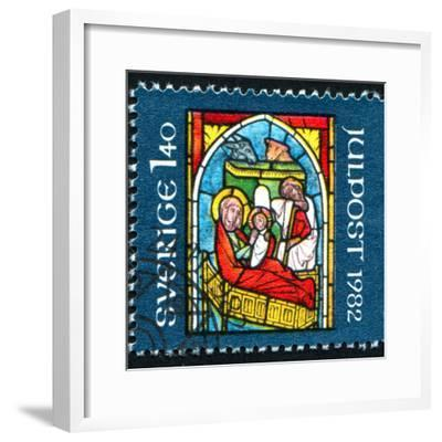Stained-Glass Windows Christmas-rook76-Framed Photographic Print
