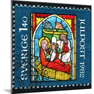Stained-Glass Windows Christmas-rook76-Mounted Photographic Print