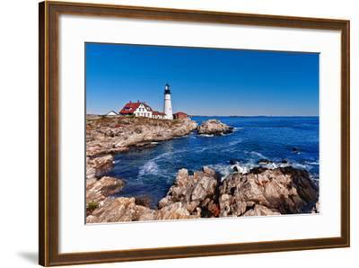 Portland Head Lighthouse in Cape Elizabeth, Maine-leekris-Framed Photographic Print