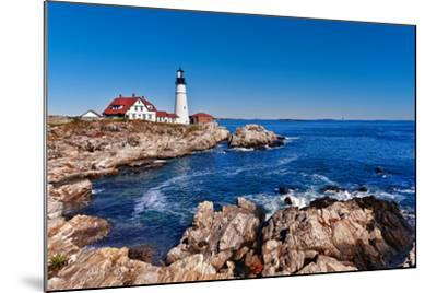 Portland Head Lighthouse in Cape Elizabeth, Maine-leekris-Mounted Photographic Print