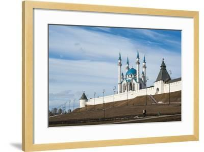 Kazan Kremlin, View of the Kul-Sharif Mosque- gospodin_mj-Framed Photographic Print