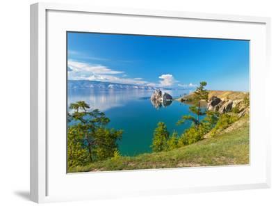 Summer on Lake Baikal. Sunny Day on Olkhon Island-katvic-Framed Photographic Print