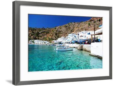 Greek Coastline Village of Loutro in Southern Crete- singidavar-Framed Photographic Print